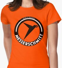 Messerschmitt Aircraft Company Logo (Black) Womens Fitted T-Shirt