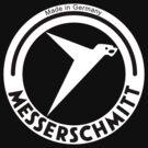 Messerschmitt Aircraft Company Logo (White) by warbirdwear