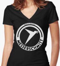 Messerschmitt Aircraft Company Logo (White) Women's Fitted V-Neck T-Shirt