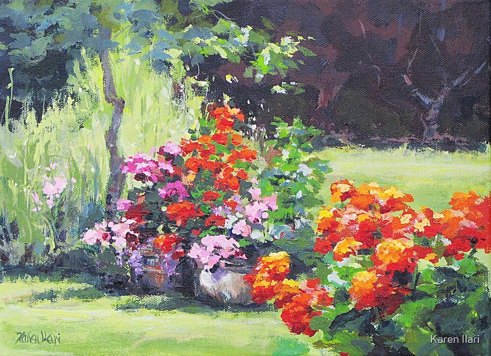 Geraniums by Karen Ilari