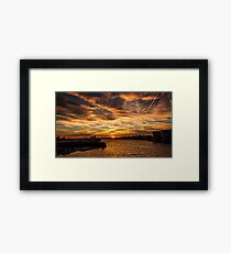 Sun is setting in London Framed Print