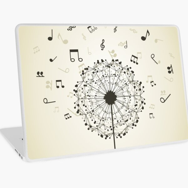 Music a dandelion Laptop Skin