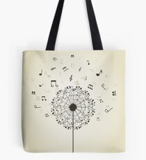Music a dandelion Tote Bag