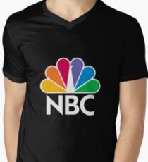 NBC Logo - White Men's V-Neck T-Shirt
