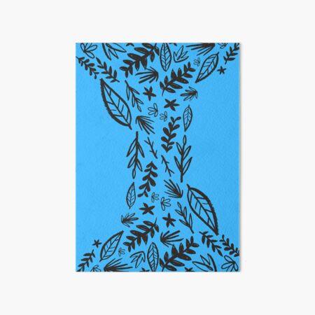 Blue Tribal Pattern Flower Art Board Print