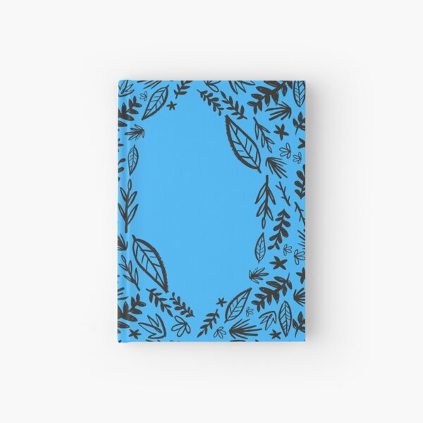 Blue Tribal Pattern Flower Hardcover Journal