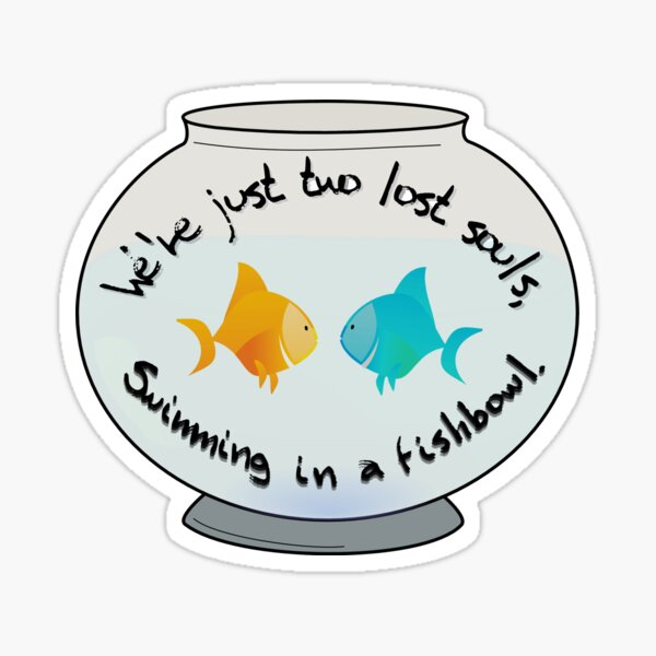 Two Lost Souls in a Fishbowl - Pink Floyd Design Sticker