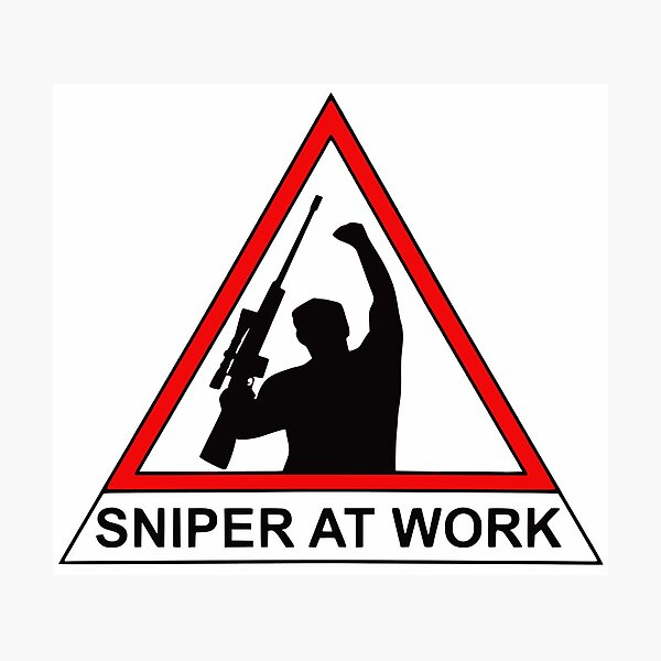 Sniper At Work Photographic Print