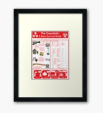 The Essentials: A Basic Survival Guide Framed Print