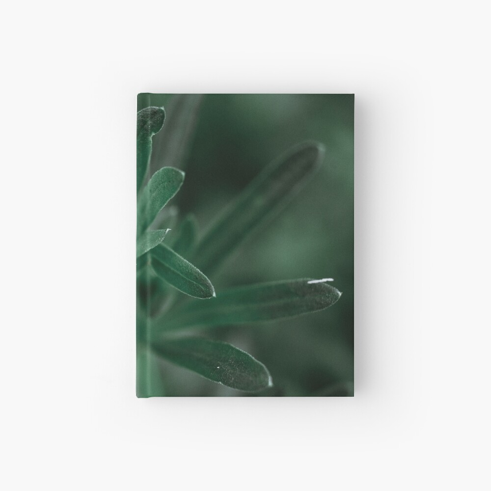 Leaf Macro with tiny spikes Hardcover Journal