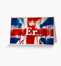 """Er..."" by Banksy  Greeting Card"