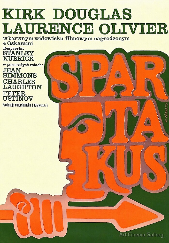Polish Poster Spartacus by Art Cinema Gallery