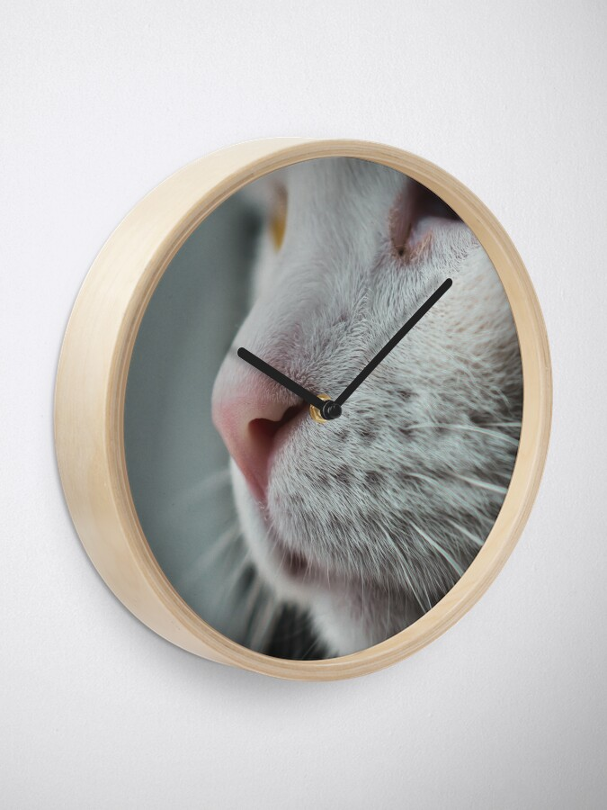 Alternate view of Cat nose closeup Clock