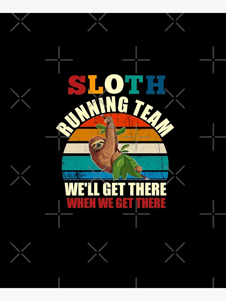 Sloth running team by TopDesignArt
