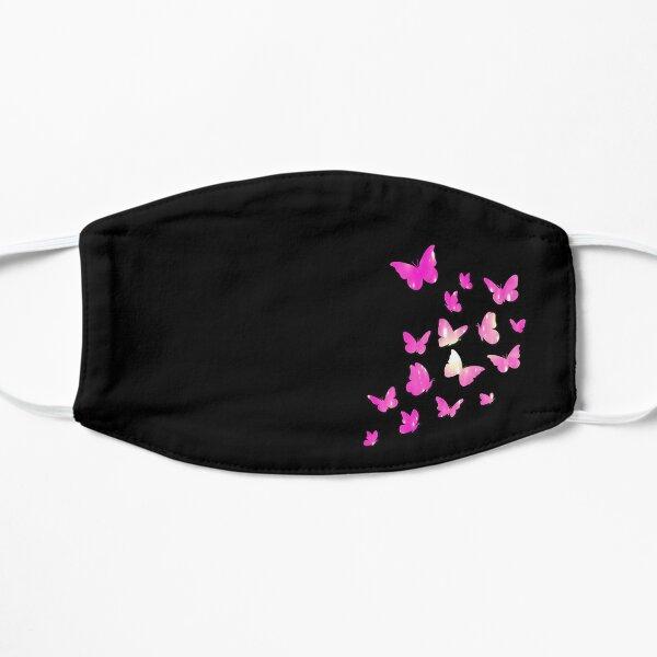 Diseño negro Una máscara divertida Mariposa reutilizable lavable Mascarilla plana