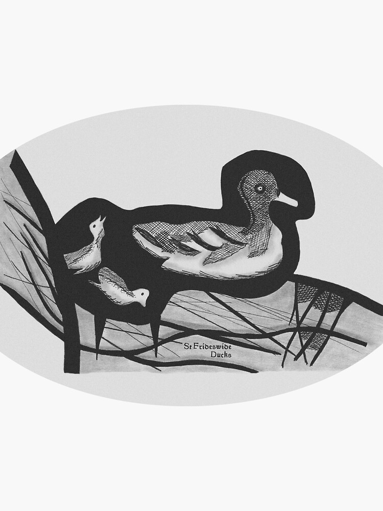 St Frideswide Ducks Stickers by hoxtonboy