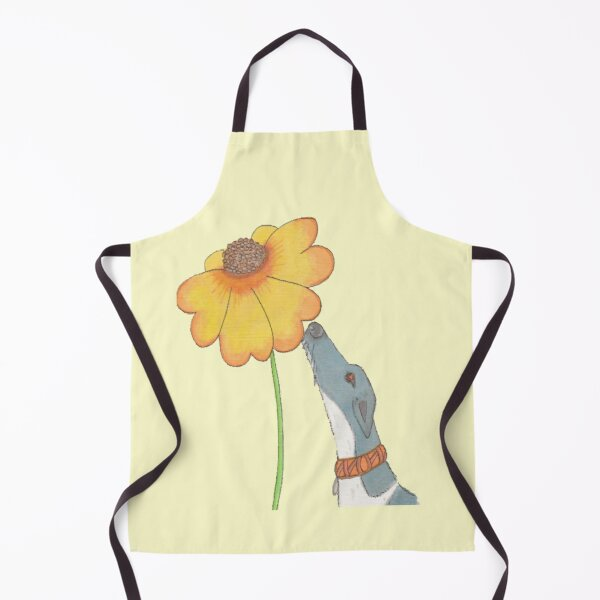 Just Sniffing Sunshine - Greyhound with a Flower Apron