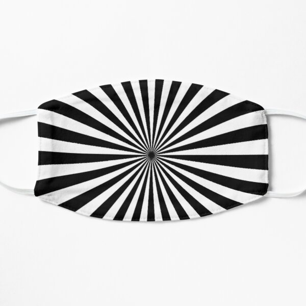 BLACK AND WHITE OPTICAL ILLUSION PATTERN BY OZCUSHIONSTOO  Mask