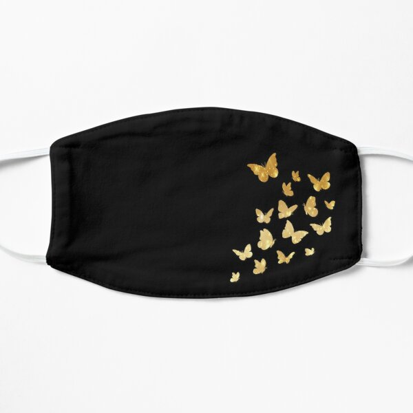 Butterfly, Butterflies, Gold Sparkles, Colorful Insects, Cute Monarch, Beautiful Colors, Brilliant, Black Background Mask