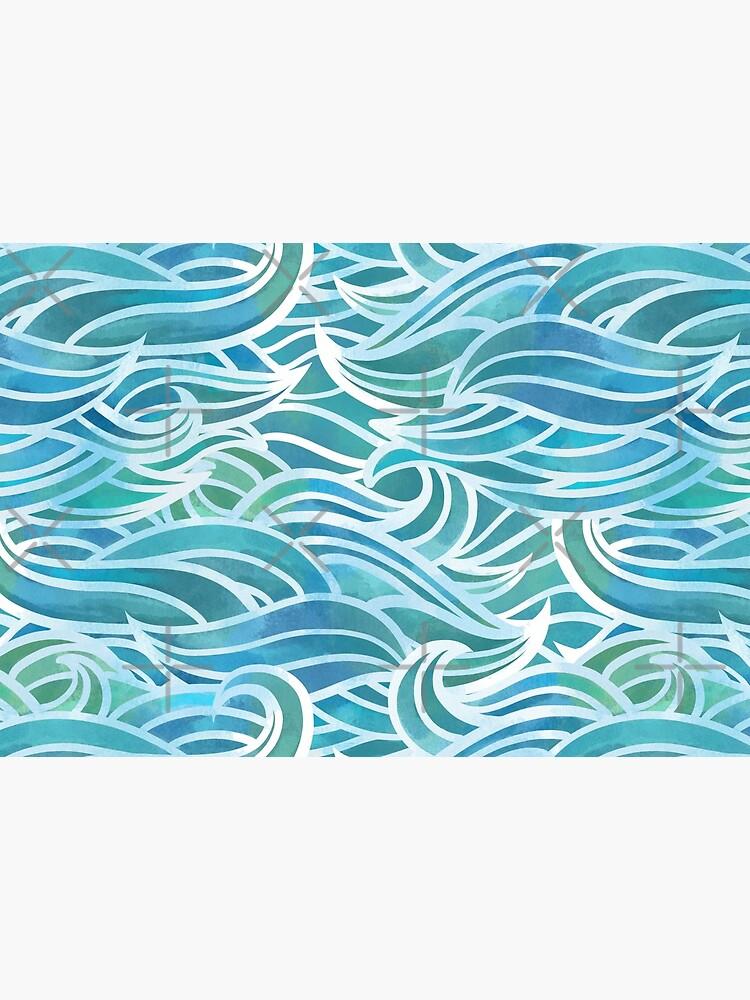 Watercolor waves by Elenanaylor