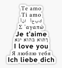 I Love You - Multiple Languages 2 Sticker