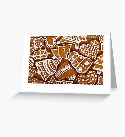 Christmas card with Christmas cookies Greeting Card