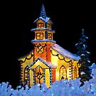 Christmas card with church by Cheryl Hall