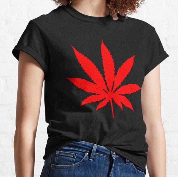 Red Weed Leaf Marijuana Herbalife Classic T-Shirt