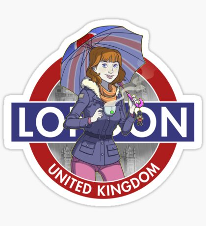 London - Umbrella Girl Sticker