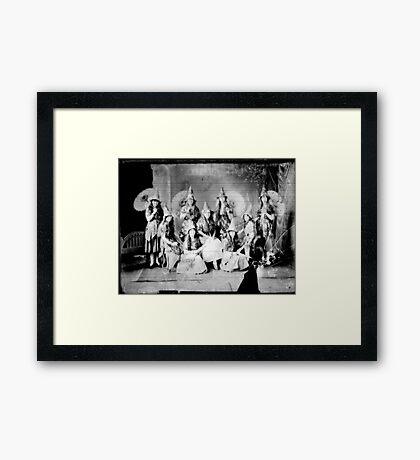 Concert girls photograph - glass negative Framed Print