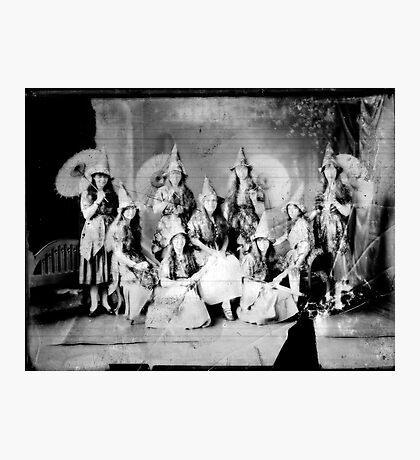 Concert girls photograph - glass negative Photographic Print