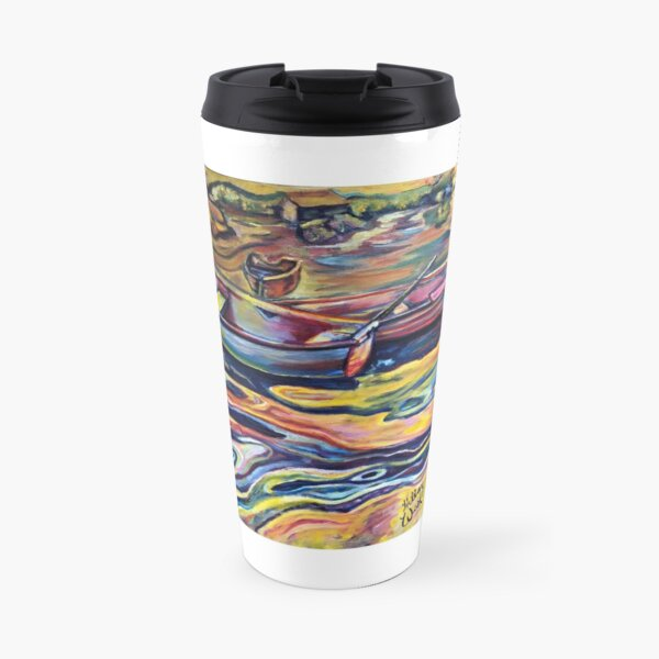 Swirls at Sunrise Travel Mug