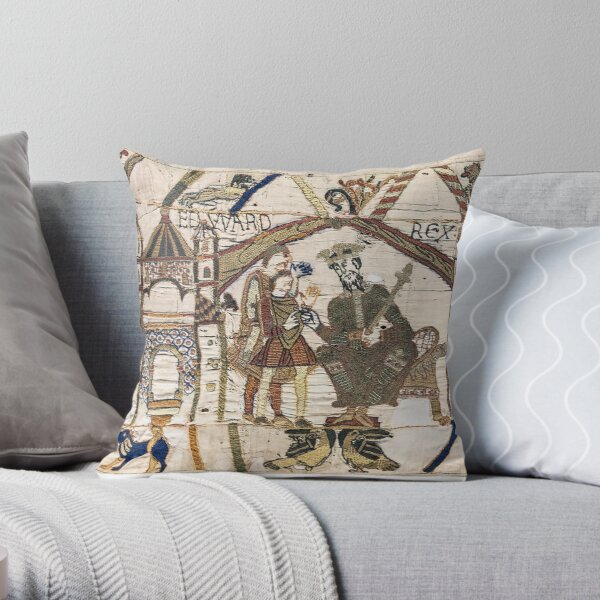 Bayeux Tapestry. Edward the Confessor sends Harold to Normandy. Throw Pillow