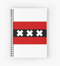 Flag of Amsterdam Spiral Notebook