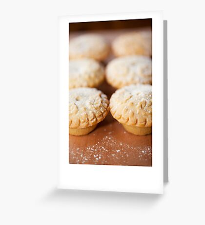 Christmas card with fruit mince pies Greeting Card