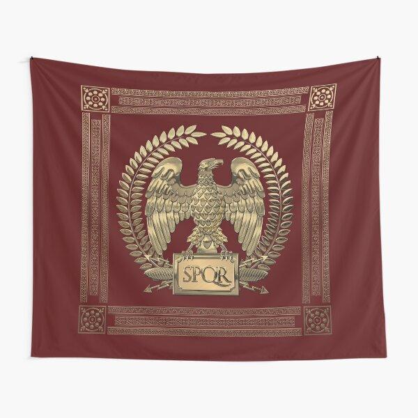 Roman Empire - Gold Imperial Eagle over Red Velvet Tapestry