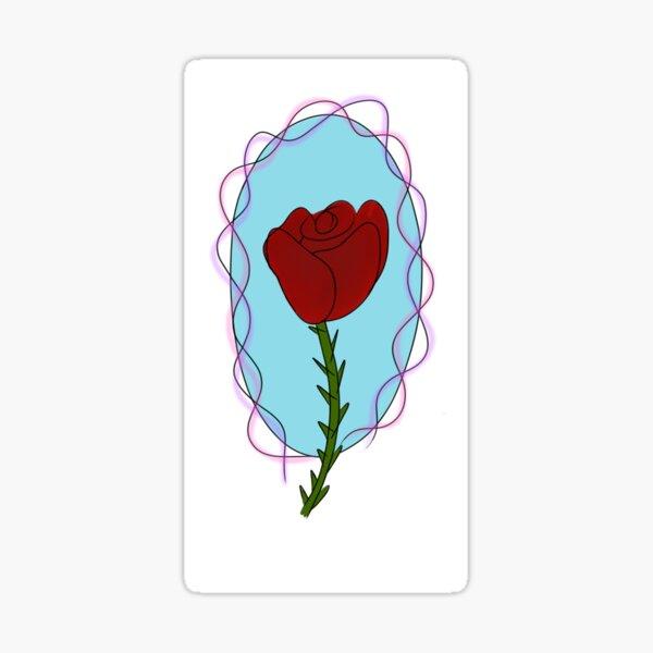 Diseño de rosa Pegatina