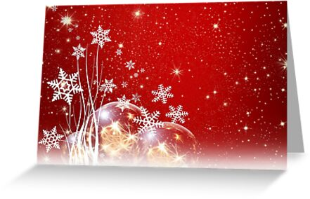 Christmas card with snowflakes by Cheryl Hall