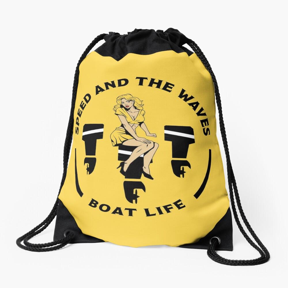 Speedboat Owners Gift - Speed Boat Gifts - Speedboat shirts - Speedboat Stickers - Mugs - Bags Drawstring Bag