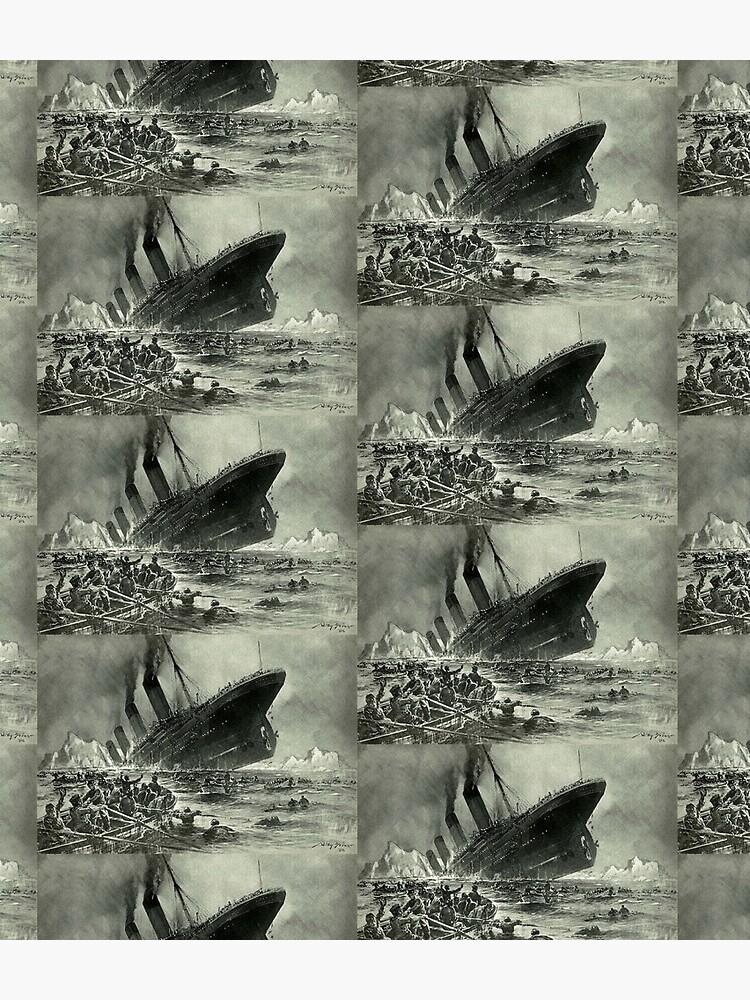 TITANIC. 1912, RMS Titanic, Cruise, Ship, Disaster, Untergang der Titanic by Willy Stower, 1912. by TOMSREDBUBBLE