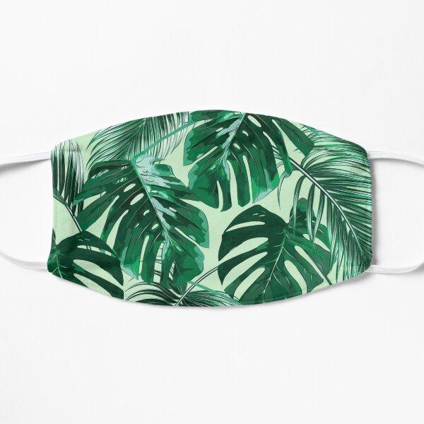green palm leaves mask Flat Mask