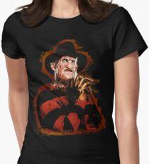 Freddy Krueger Potrait Women's Fitted T-Shirt