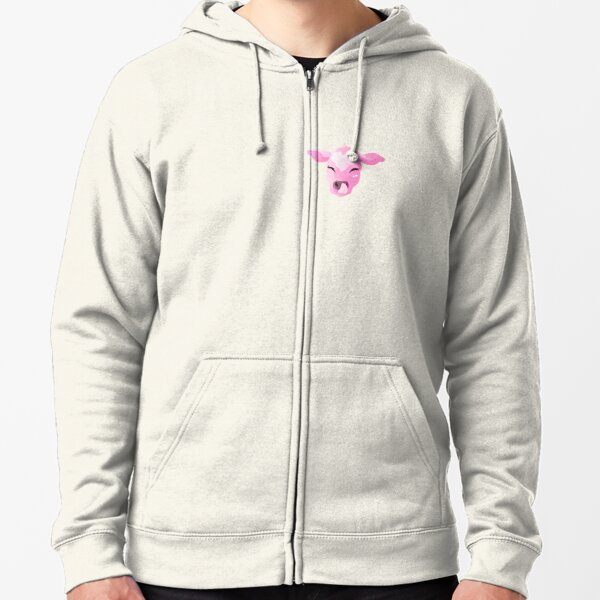 Lil' strawberry cow  Zipped Hoodie