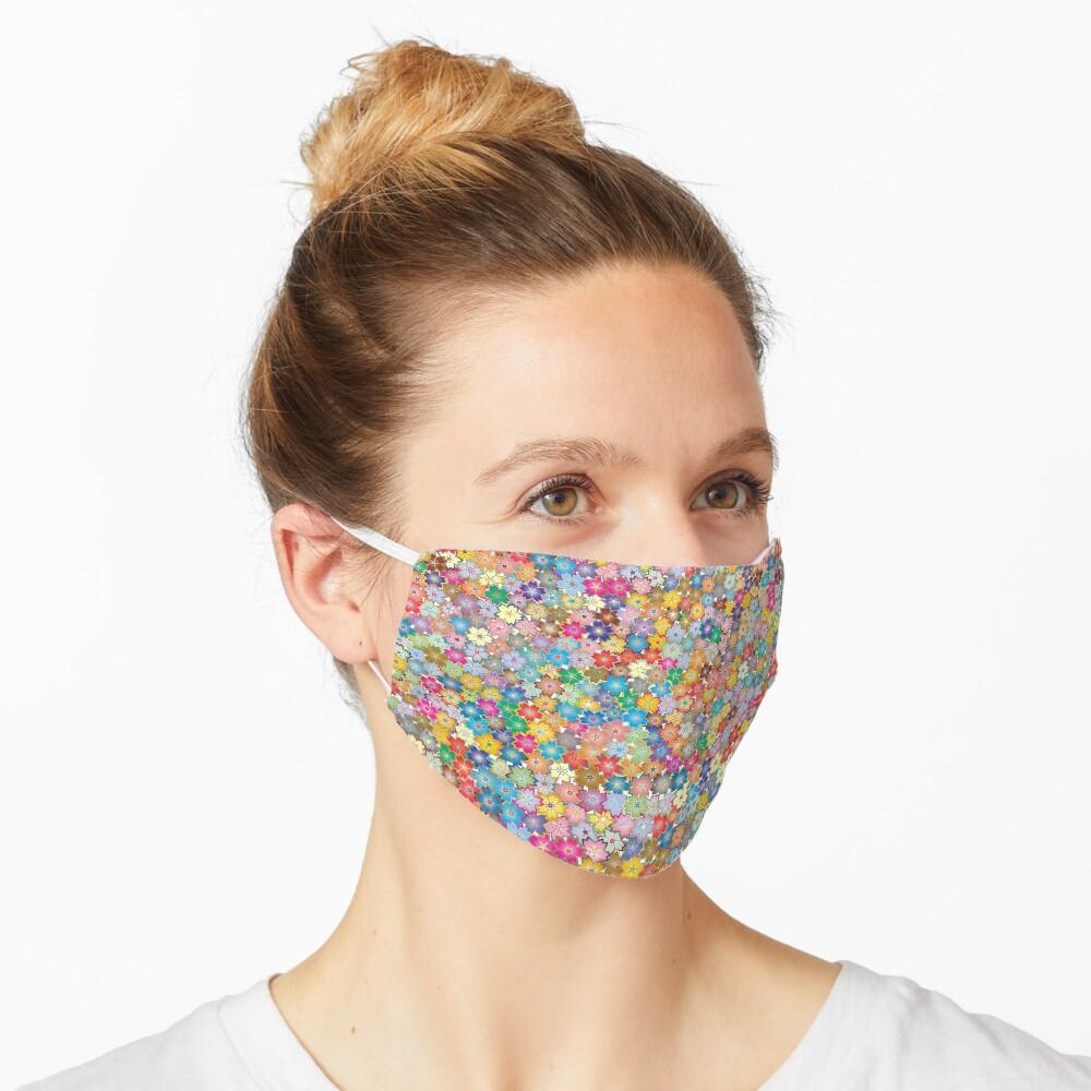 Vibrant Floral Mask