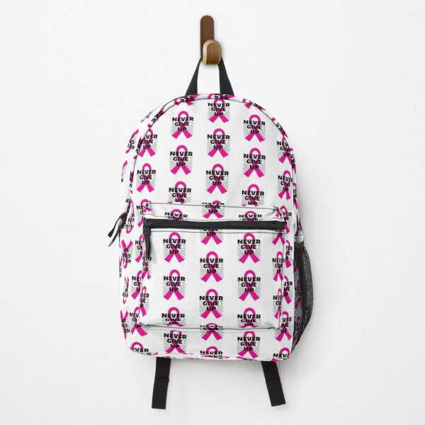 NEVER GIVE UP BREAST CANCER PINK RIBBON Backpack