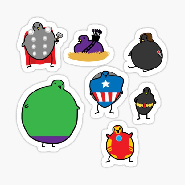 The Avengebirbs + Winter Birb Sticker