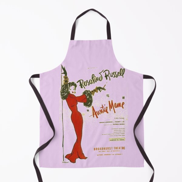 Auntie Mame, Rosalind Russell playbill Apron