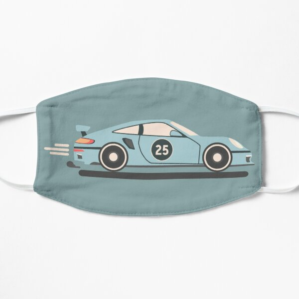 Porsche 911 Flat Design Masque sans plis