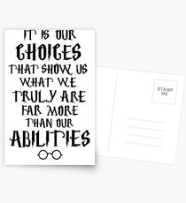 Dumbledore quote Postcards