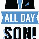 Der ganze Tag Sohn Schmidt Tshirt | Neues Mädchen-T-Shirt T-Stück Nick Miller Cece Winston Jess Fernsehzitat Meme Geschenk ihm Ihr Douchebagglas Schmidt geschieht uk von Tee Dunk